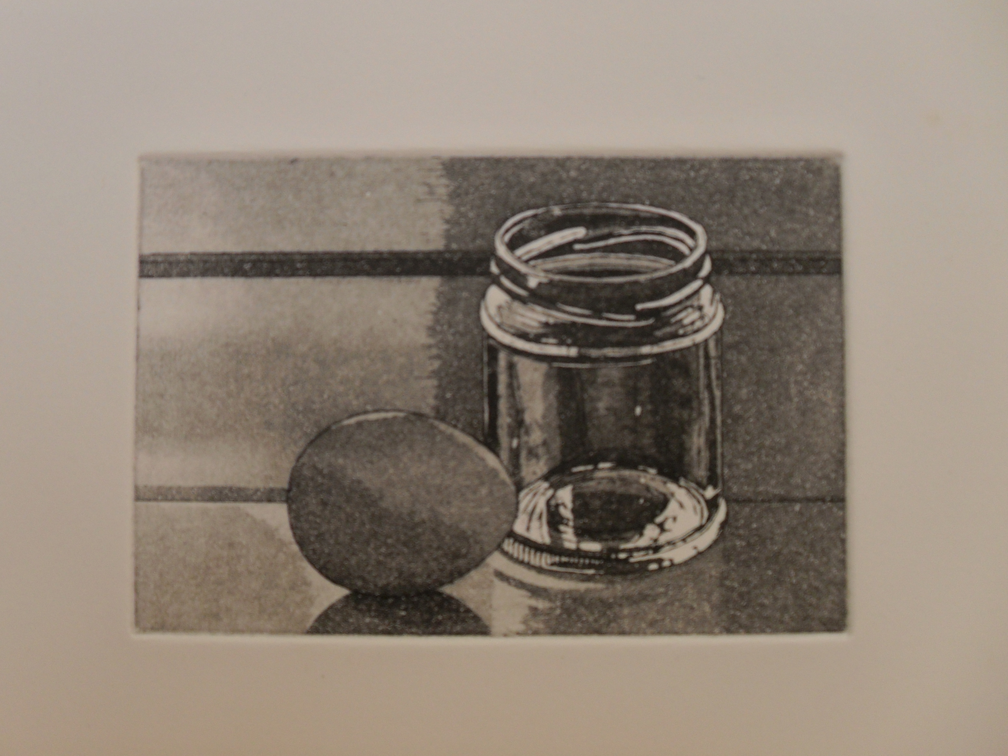 Egg and Jam Jar: Etching and Aquatint 2007 14.5x10cm Edition of Twelve