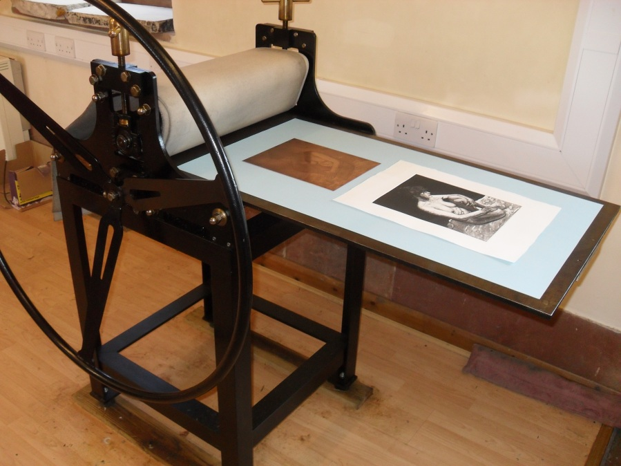 Etch Press with Print and Copper Plate