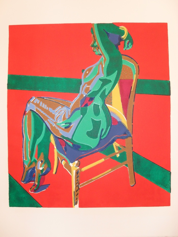 Homage to Matthew Smith: Colour Linocut 2003 43x37cm Edition of Forty-Five