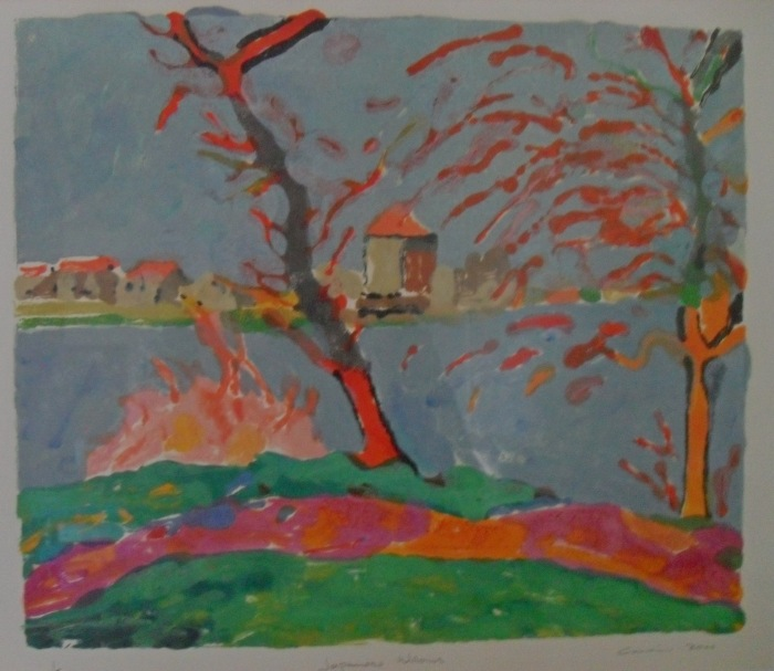 Japanese Willows: Colour Monotype 2000 35.5x42cm
