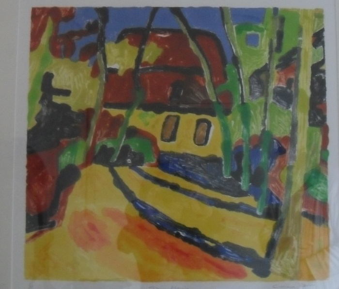Spring Morning: Colour Monotype 2000 45x51cm