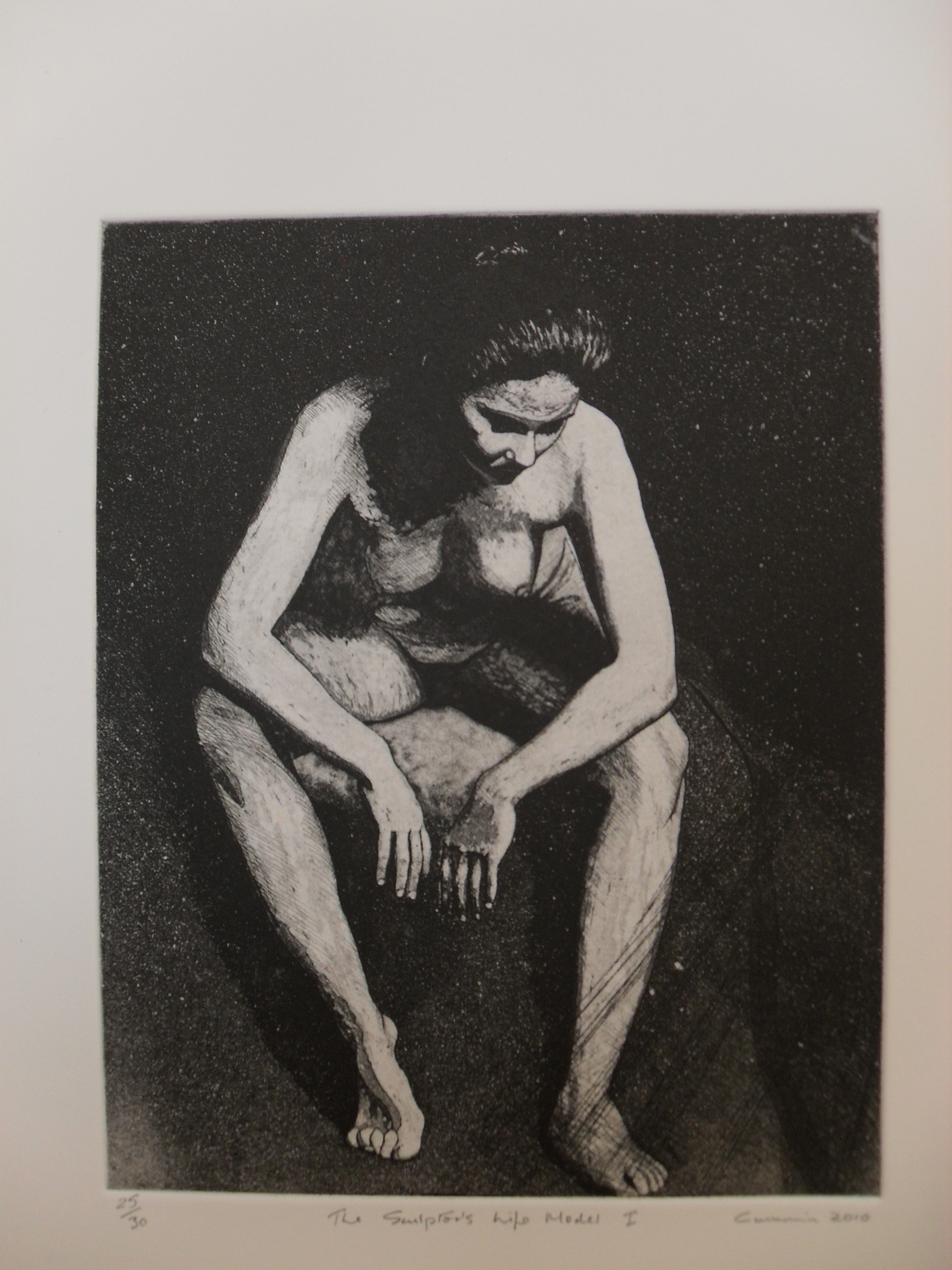 The Sculptor's Life Model I: Etching and Aquatint 2010 24.5x19.5cm Edition of Thirty