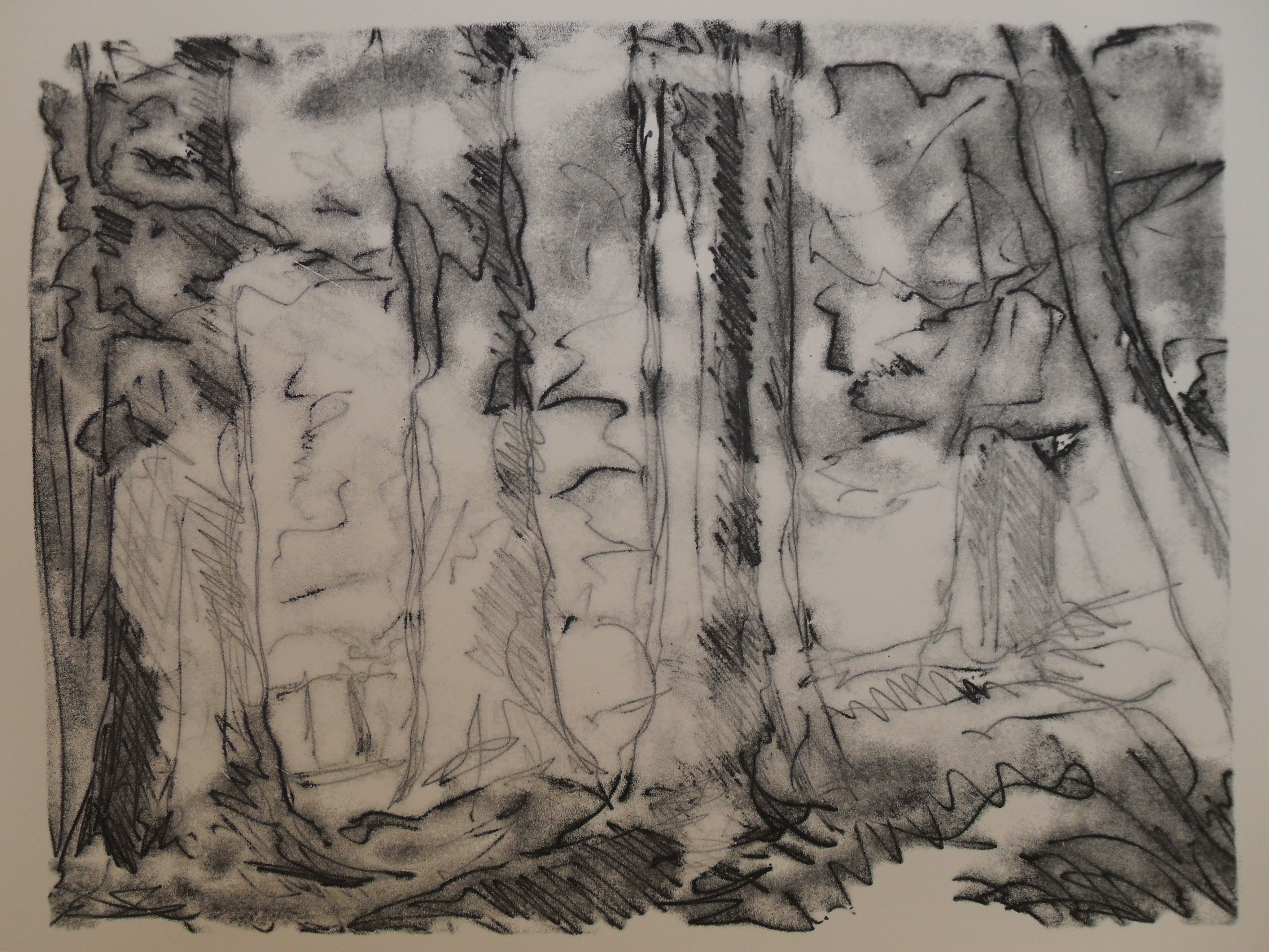 Woods at Greystoke: Trace Monotype